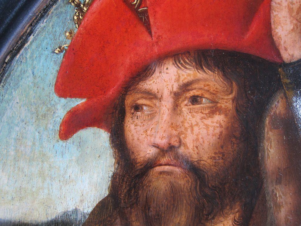 Detajle af Christian den II under rensning.