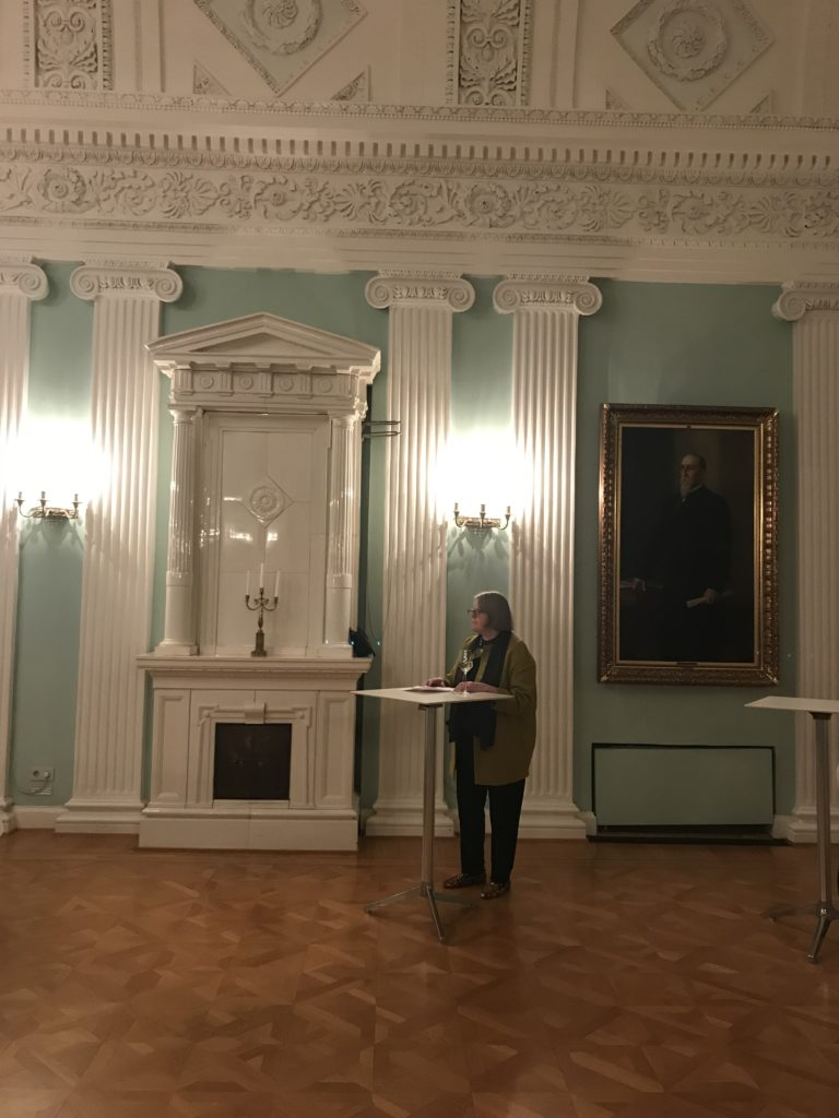 "Konferencens aftensreception, ved den fantastisk flotte ""Empire Hall"" i Helsinkis Old Town Hall."