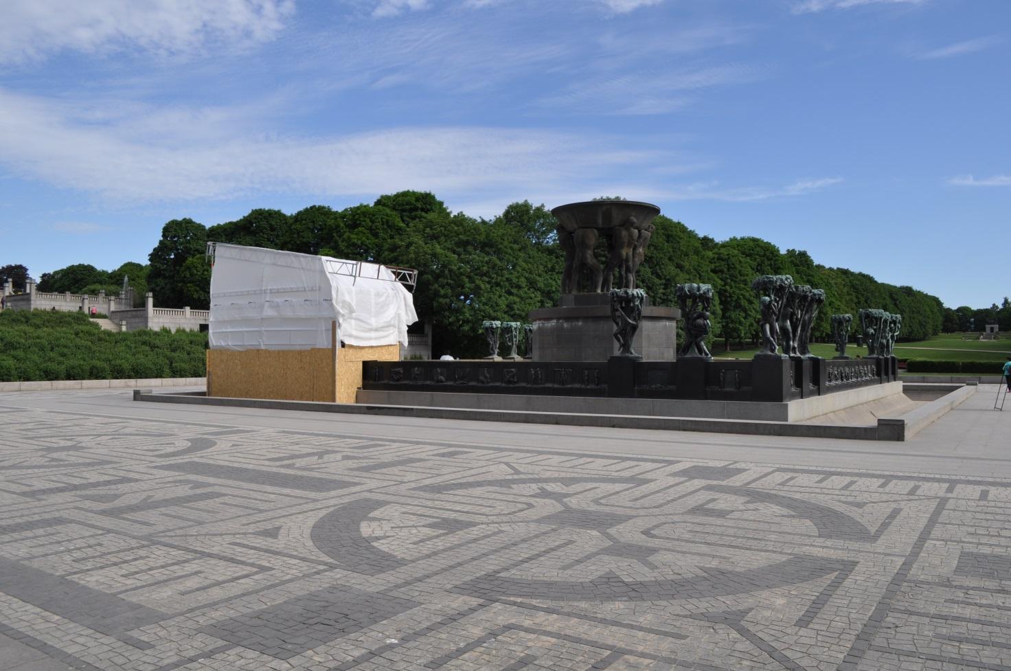 Fontæne i Vigelandsparken i Oslo