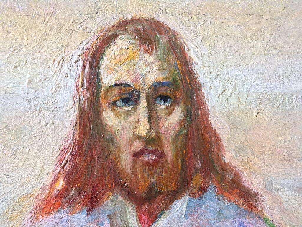 Detalje af Jesus efter rensning. Foto: Nationalmuseet, Mikala Bagge