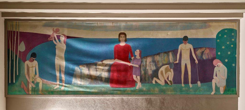 Maleriet inden nedtagningen og konserveringen. Foto: Nationalmuseet, Roberto Fortuna.