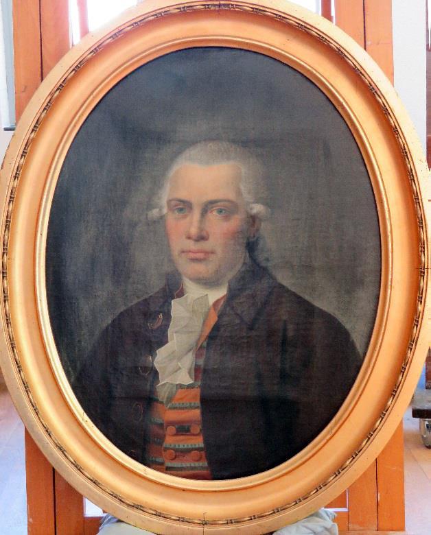 Portræt af Jens Bruun Neergaard før konservering. Foto: Nationalmuseet, Mikala Bagge