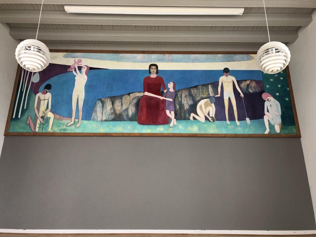 Niels Lergaards maleri efter konservering. Foto: Nationalmuseet, Signe Kokholm Eskildsen.